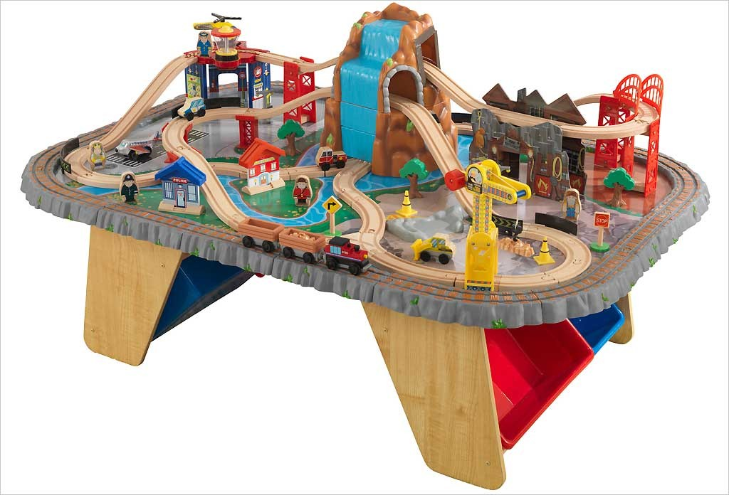 circuit de train waterfall junction table et circuit de train en bois ~ Table Et Circuit Train Bois