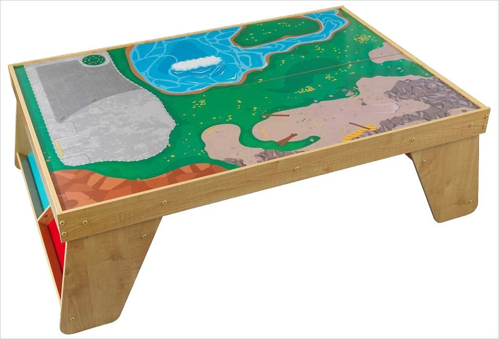 > Univers > Voiture > Table de circuit de train en bois Kidkraft ~ Table Et Circuit Train Bois
