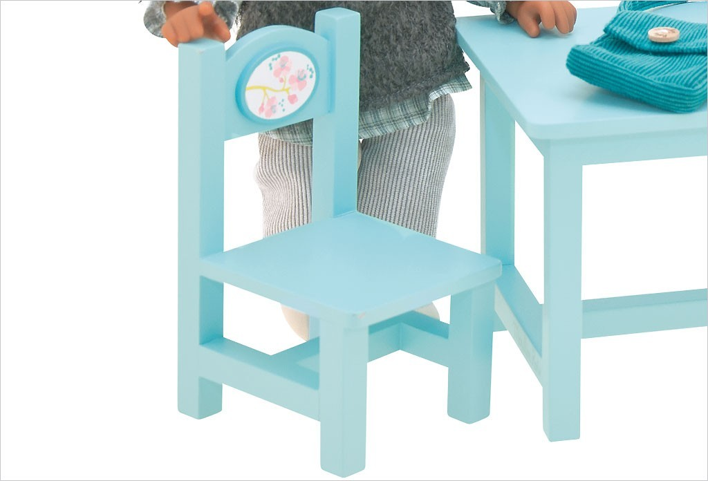 Table et 2 chaises de poup e - Table et chaise moulin roty ...