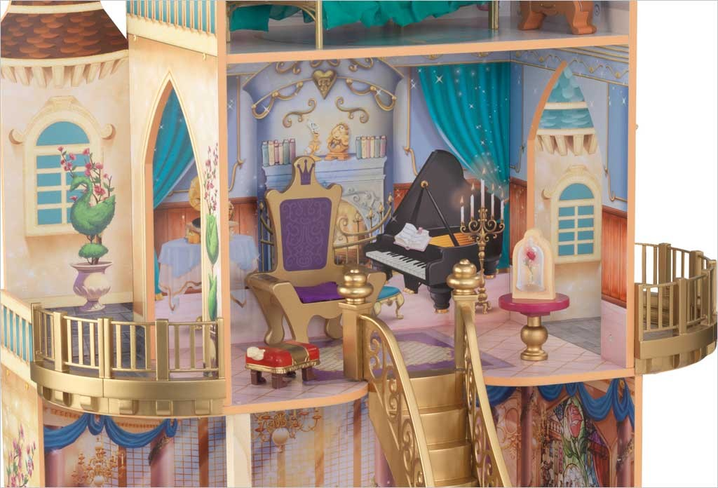 maison de poup e ch teau la belle et la b te disney kidkraft 65912. Black Bedroom Furniture Sets. Home Design Ideas