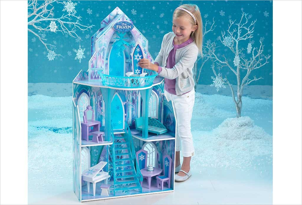Maison de poup e ch teau reine des neiges disney kidkraft for Chateau la reine des neiges