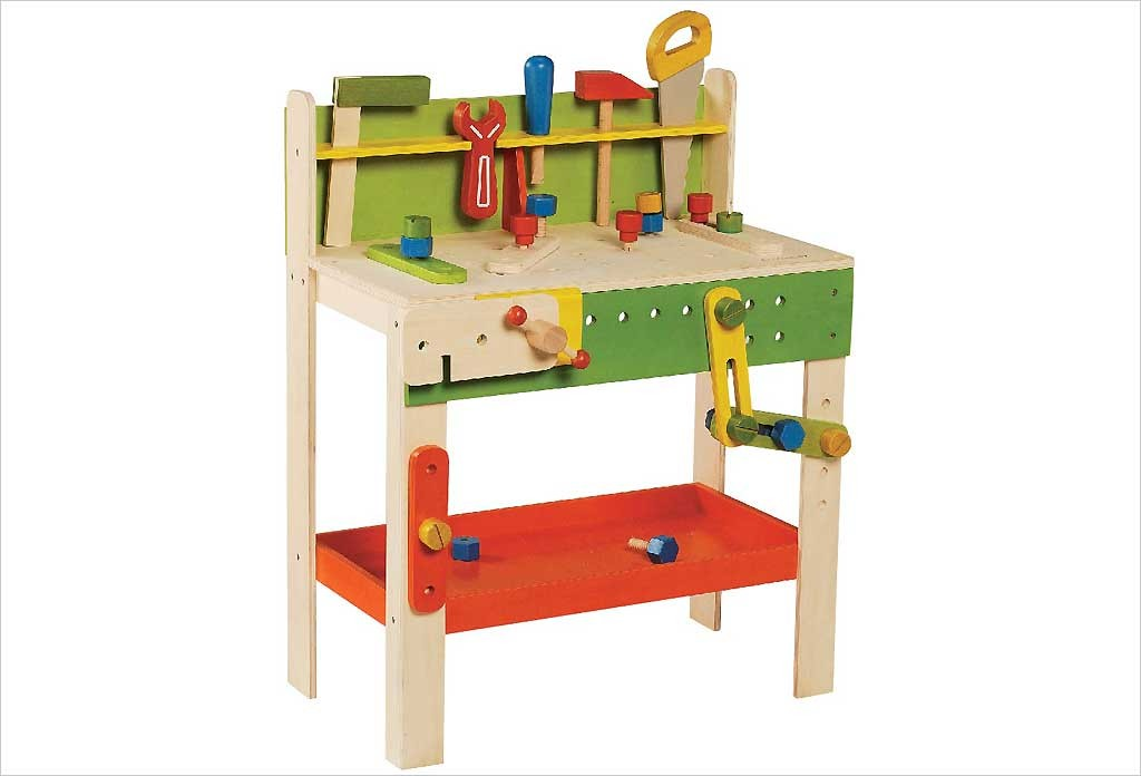 etabli de bricolage en bois pour enfant hape jouets. Black Bedroom Furniture Sets. Home Design Ideas