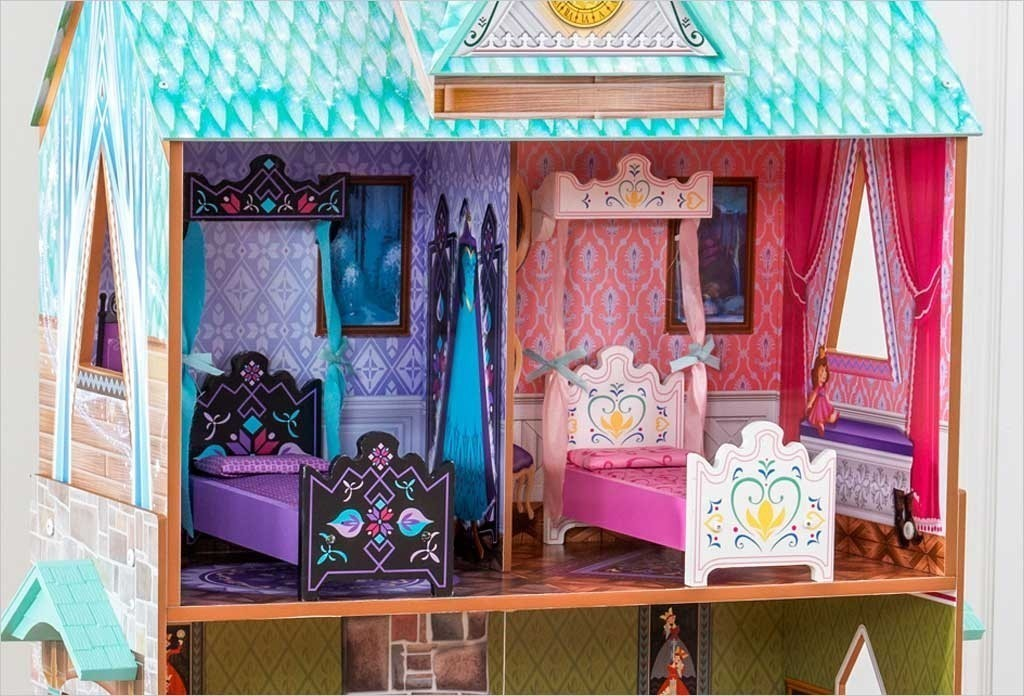 maison de poup e la reine de neige palais arendelle kidkraft. Black Bedroom Furniture Sets. Home Design Ideas