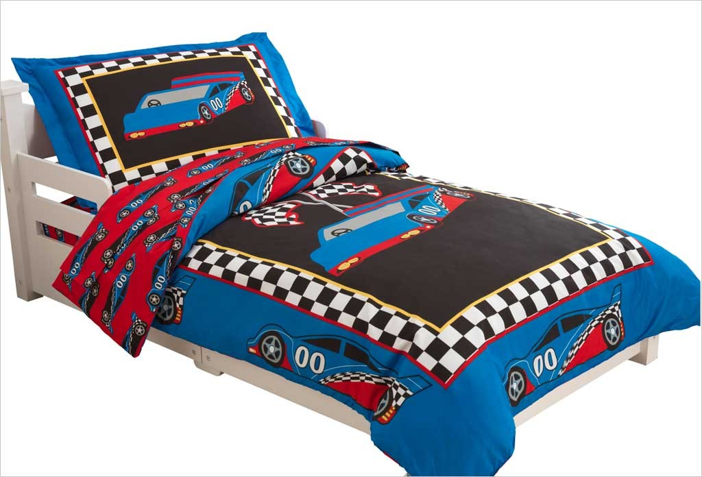 parure de lit voiture de course pour gar on kidkraft sur apesanteur. Black Bedroom Furniture Sets. Home Design Ideas