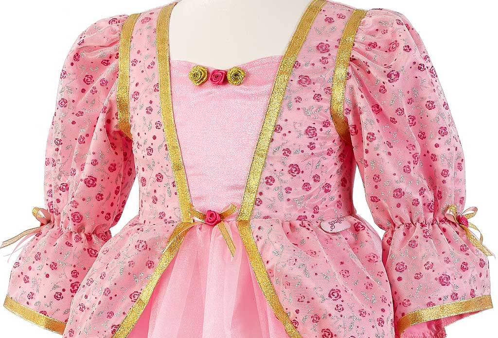 Robe De Princesse Rose Fille 3-4 Ans
