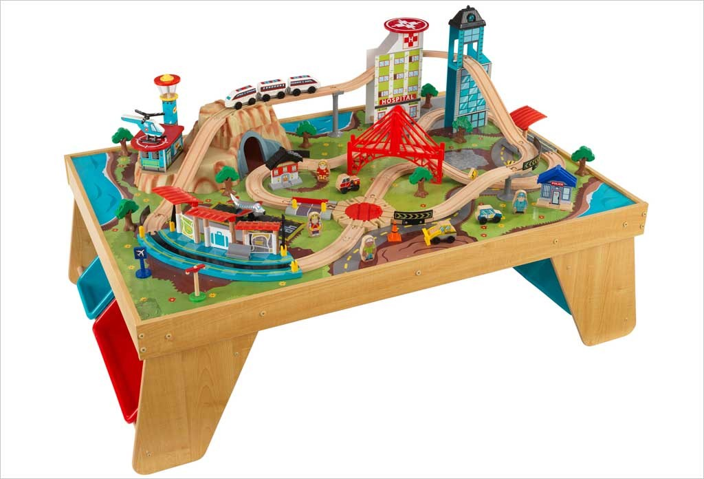 table circuit de train kidkraft aerocity circuit de train en bois ~ Table Et Circuit Train Bois