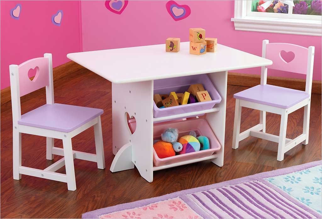 petite table de rangement blanche en bois pour enfant kidkraft. Black Bedroom Furniture Sets. Home Design Ideas