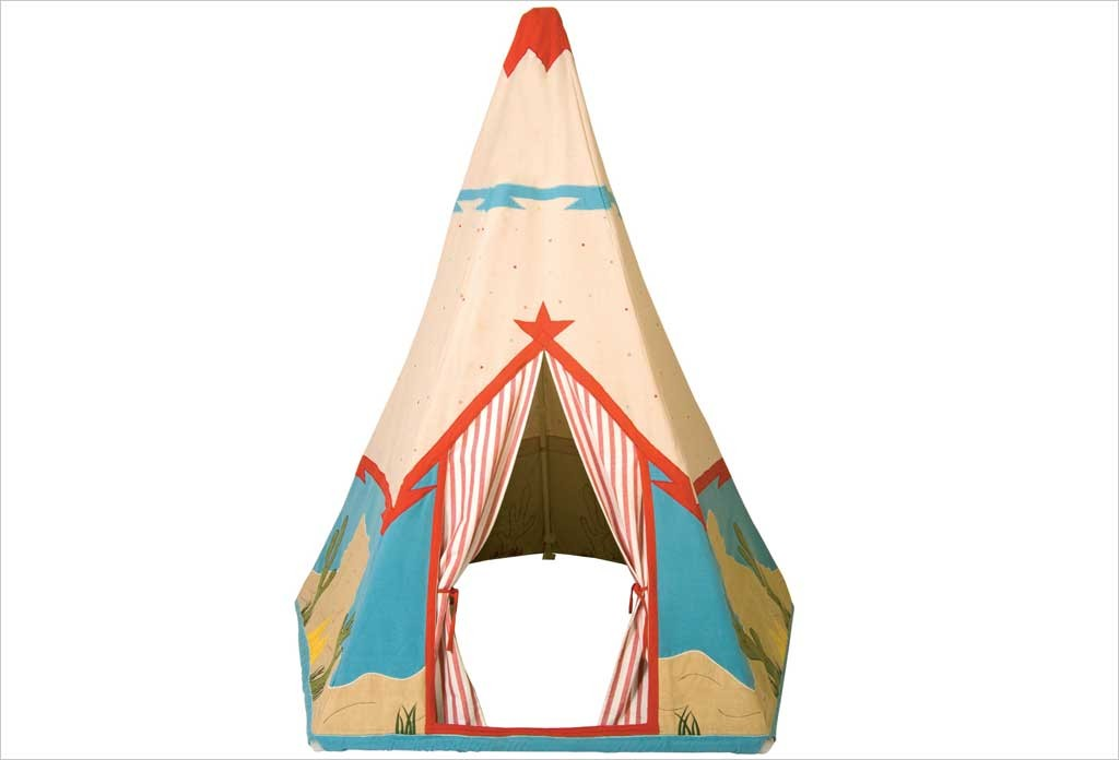 tipi enfant win green tipi cowboy en tissu. Black Bedroom Furniture Sets. Home Design Ideas