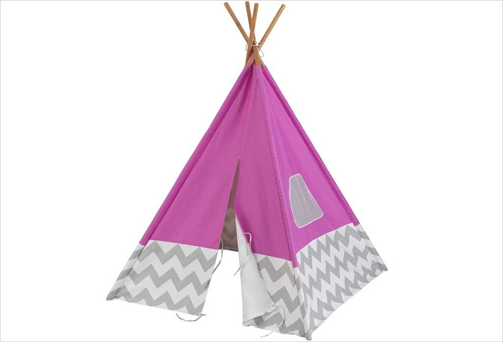 tipi en tissu rose kidkraft 00227 tente pour enfant d s 3 ans. Black Bedroom Furniture Sets. Home Design Ideas