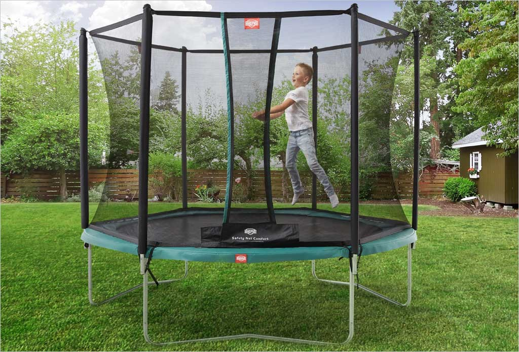 trampoline talent berg 3m pour jeunes enfants filet de. Black Bedroom Furniture Sets. Home Design Ideas